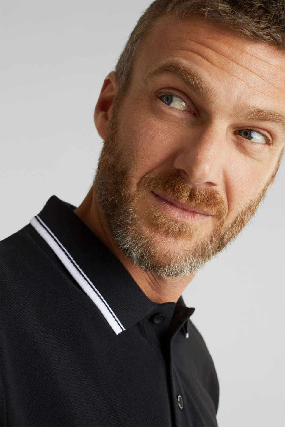 Piqué polo shirt in 100% cotton, BLACK, detail image number 6