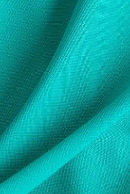Piqué polo shirt in 100% cotton, AQUA GREEN, detail