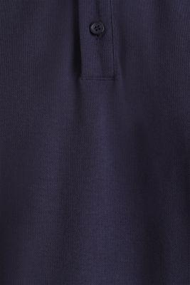 Piqué polo shirt in 100% cotton, NAVY 2, detail