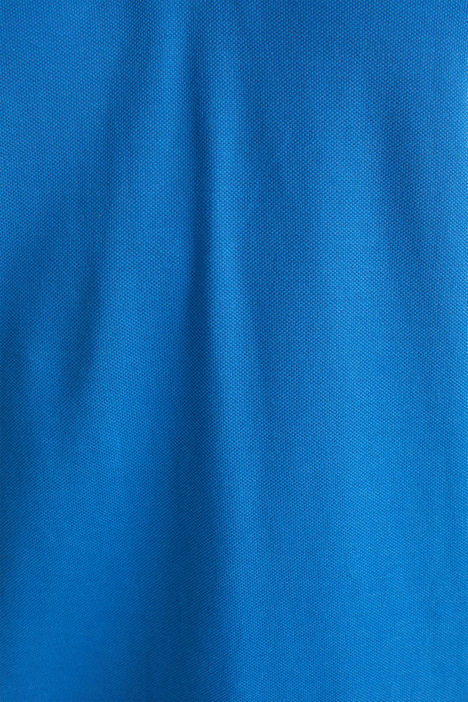 Piqué polo shirt in 100% cotton, BLUE 2, detail image number 4