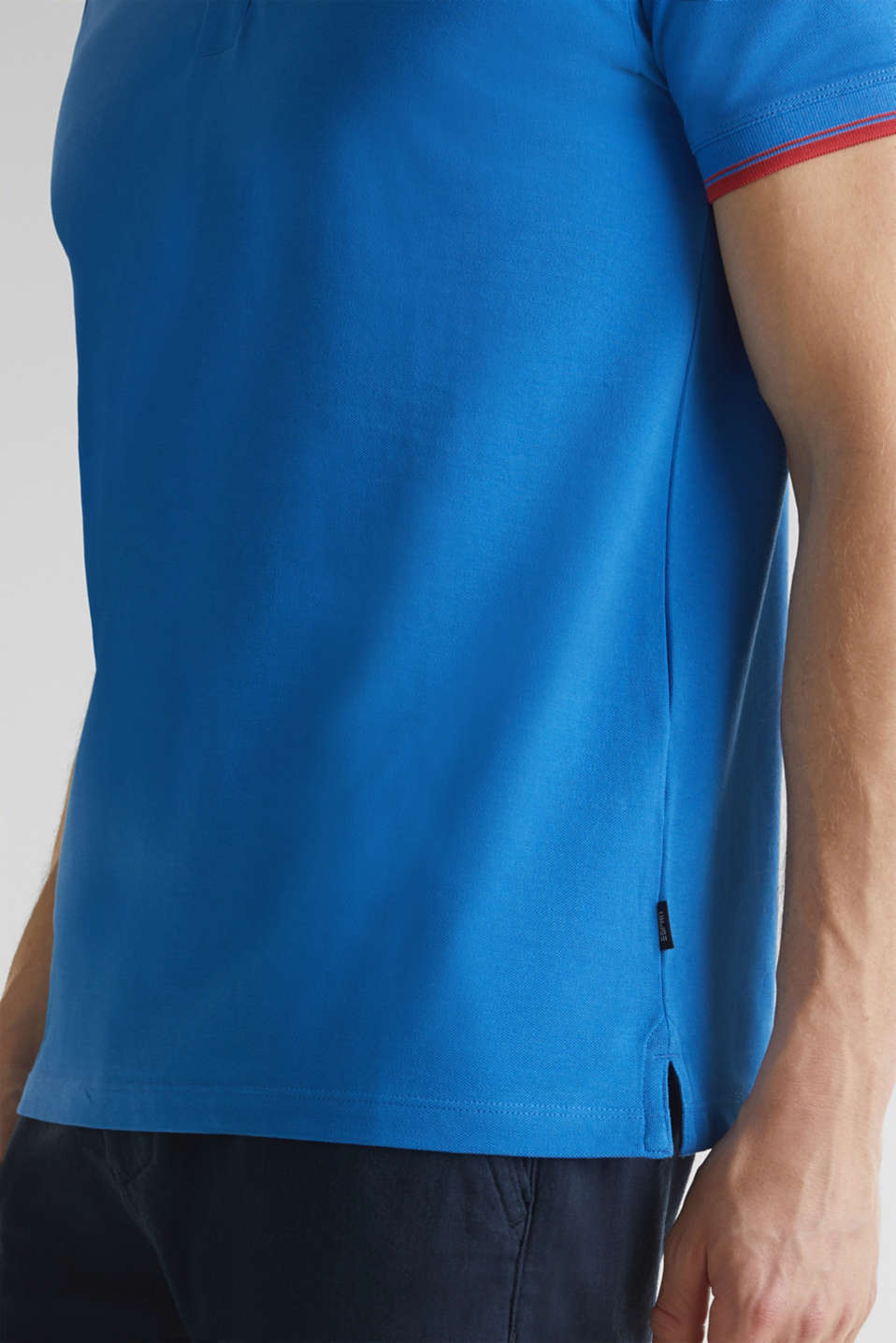 Piqué polo shirt in 100% cotton, BLUE 2, detail image number 5