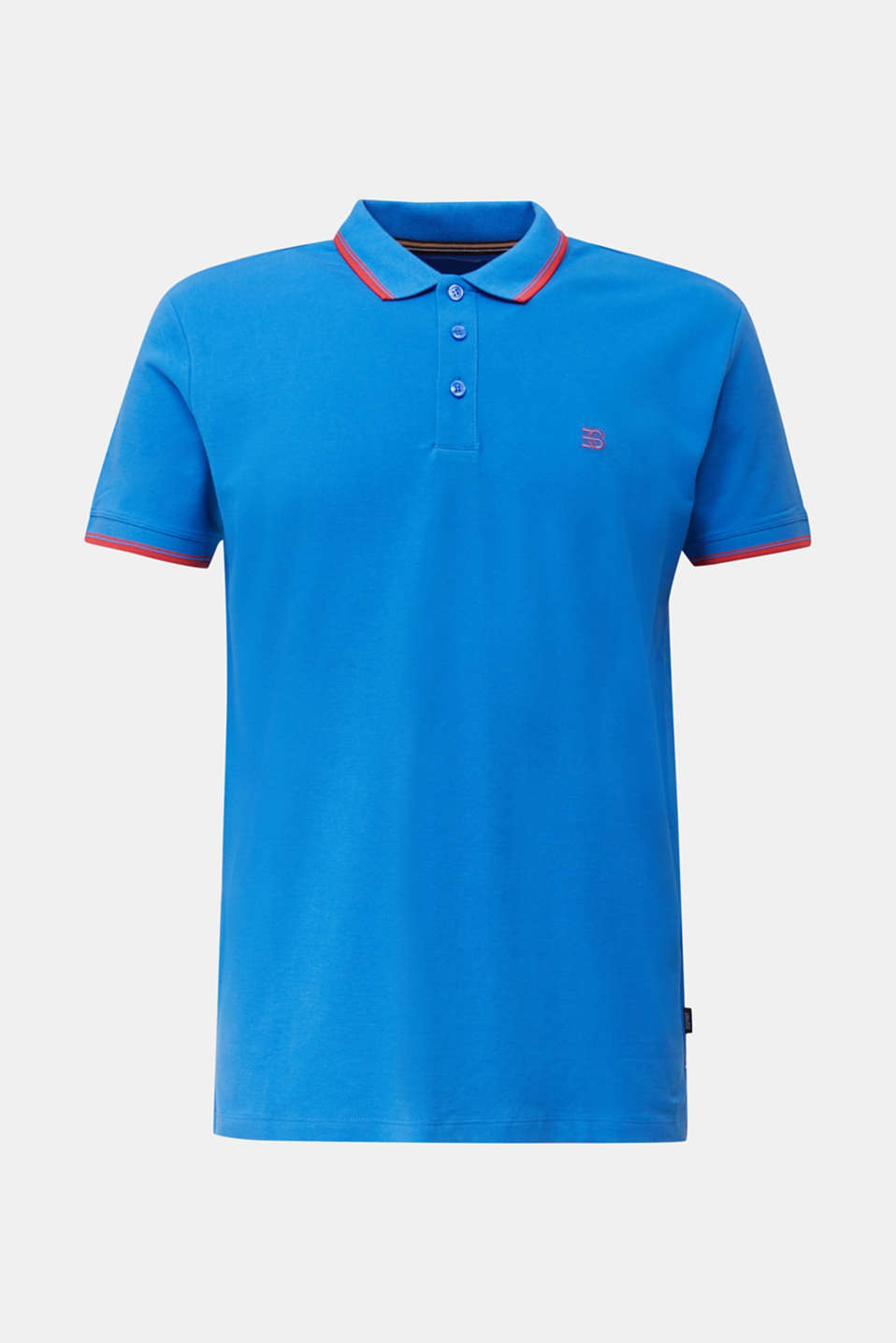 Piqué polo shirt in 100% cotton, BLUE 2, detail image number 6