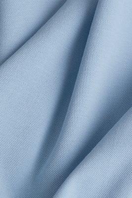 Piqué polo shirt in 100% cotton, LIGHT BLUE, detail