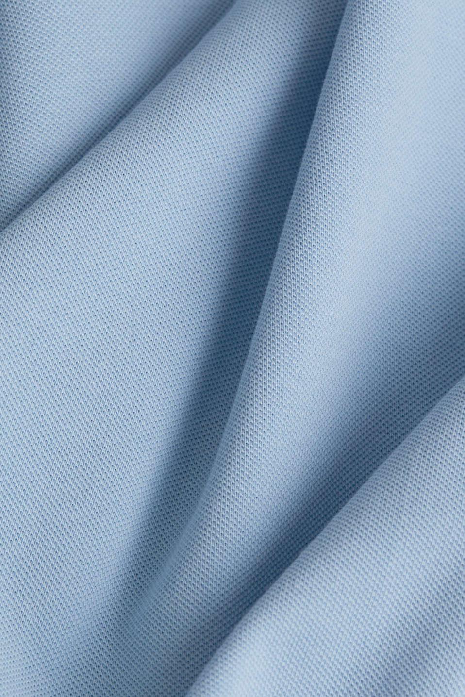 Piqué polo shirt in 100% cotton, LIGHT BLUE, detail image number 4