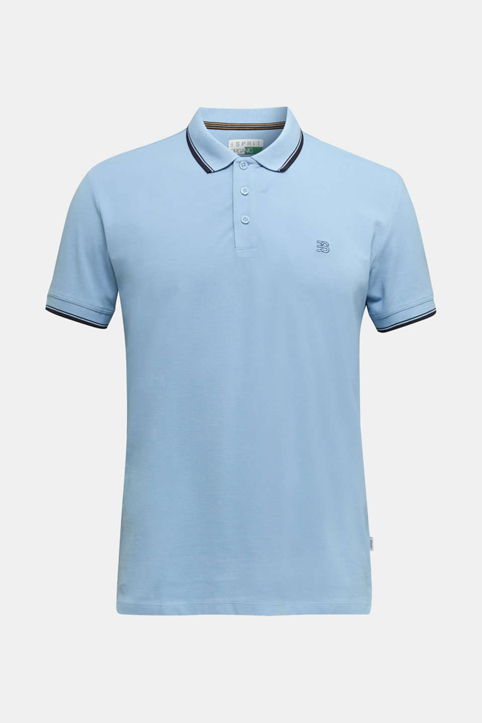 Piqué polo shirt in 100% cotton, LIGHT BLUE, detail image number 5