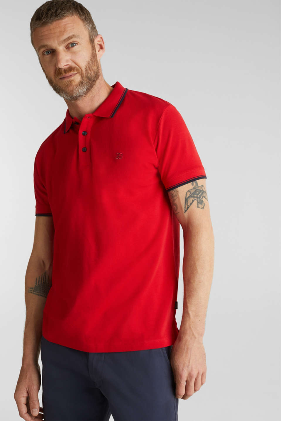 Polo shirts, RED, detail image number 0