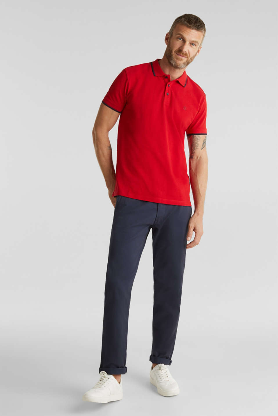 Polo shirts, RED, detail image number 2