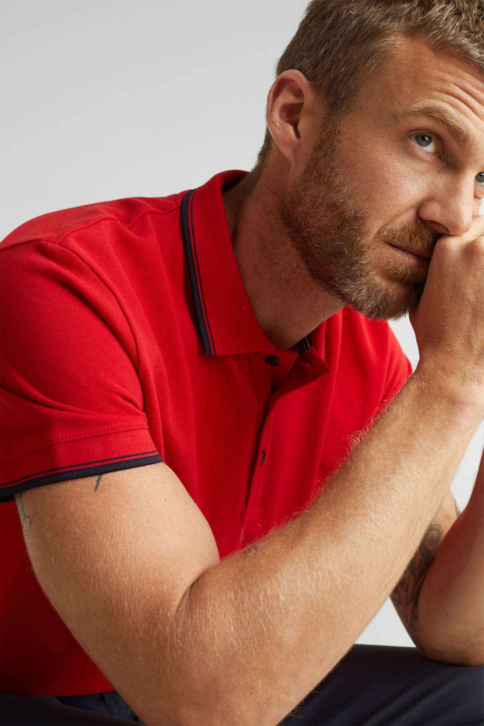 Polo shirts, RED, detail image number 5