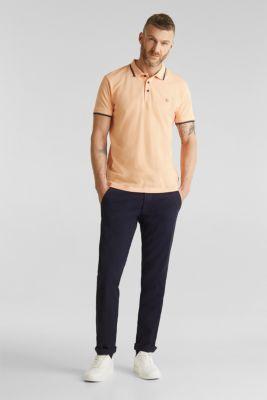Piqué polo shirt in 100% cotton, PEACH, detail