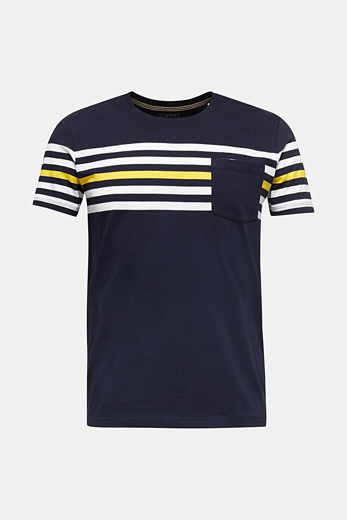 Jersey T-shirt with stripes, 100% cotton, NAVY, detail image number 6
