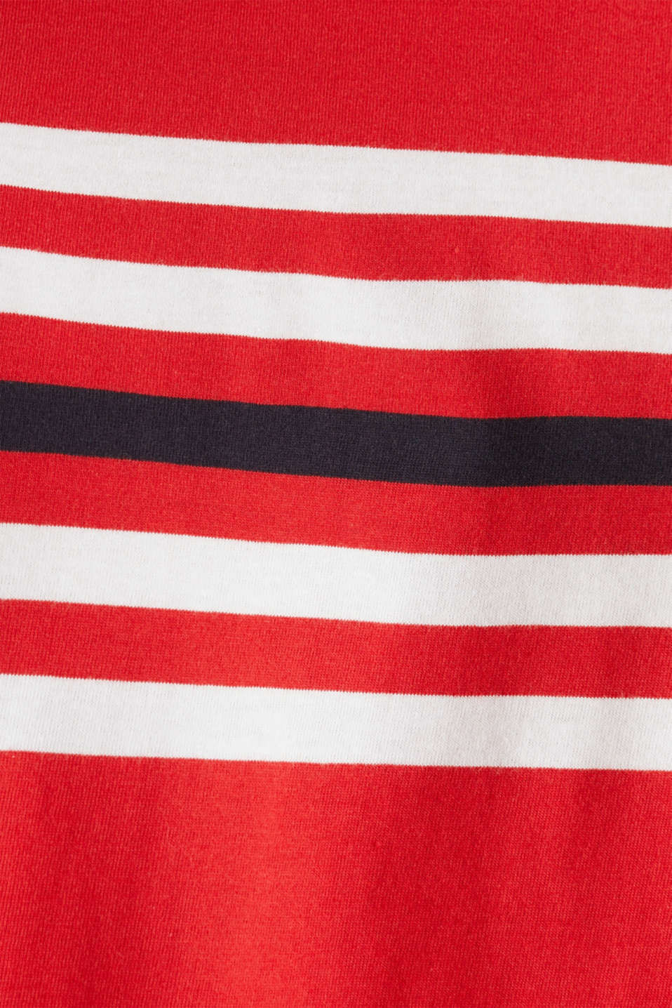Jersey T-shirt with stripes, 100% cotton, RED 3, detail image number 4