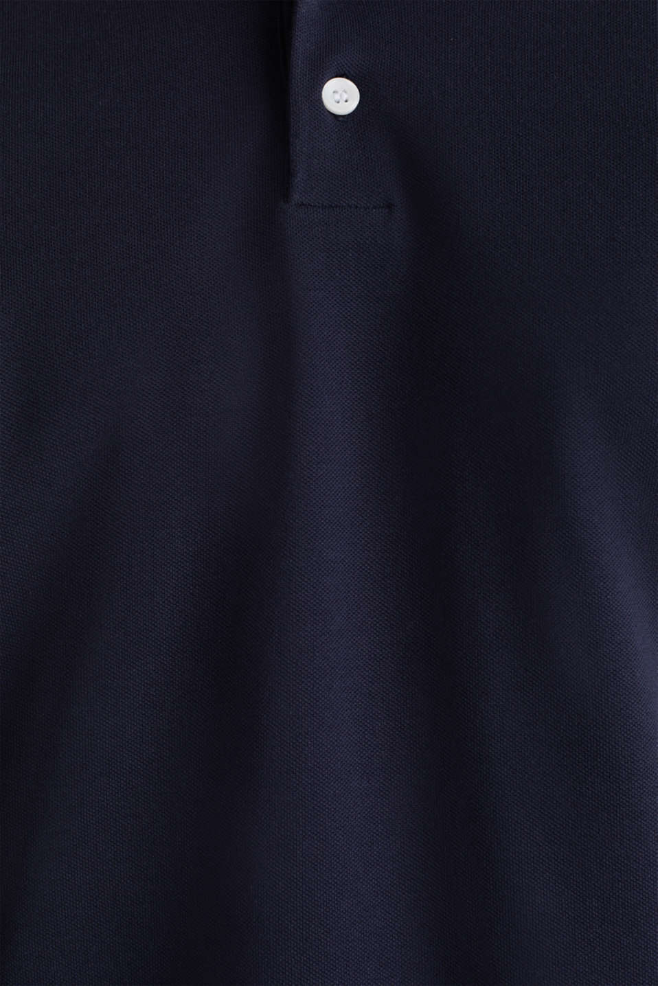 Stretch cotton piqué polo shirt, NAVY 2, detail image number 4