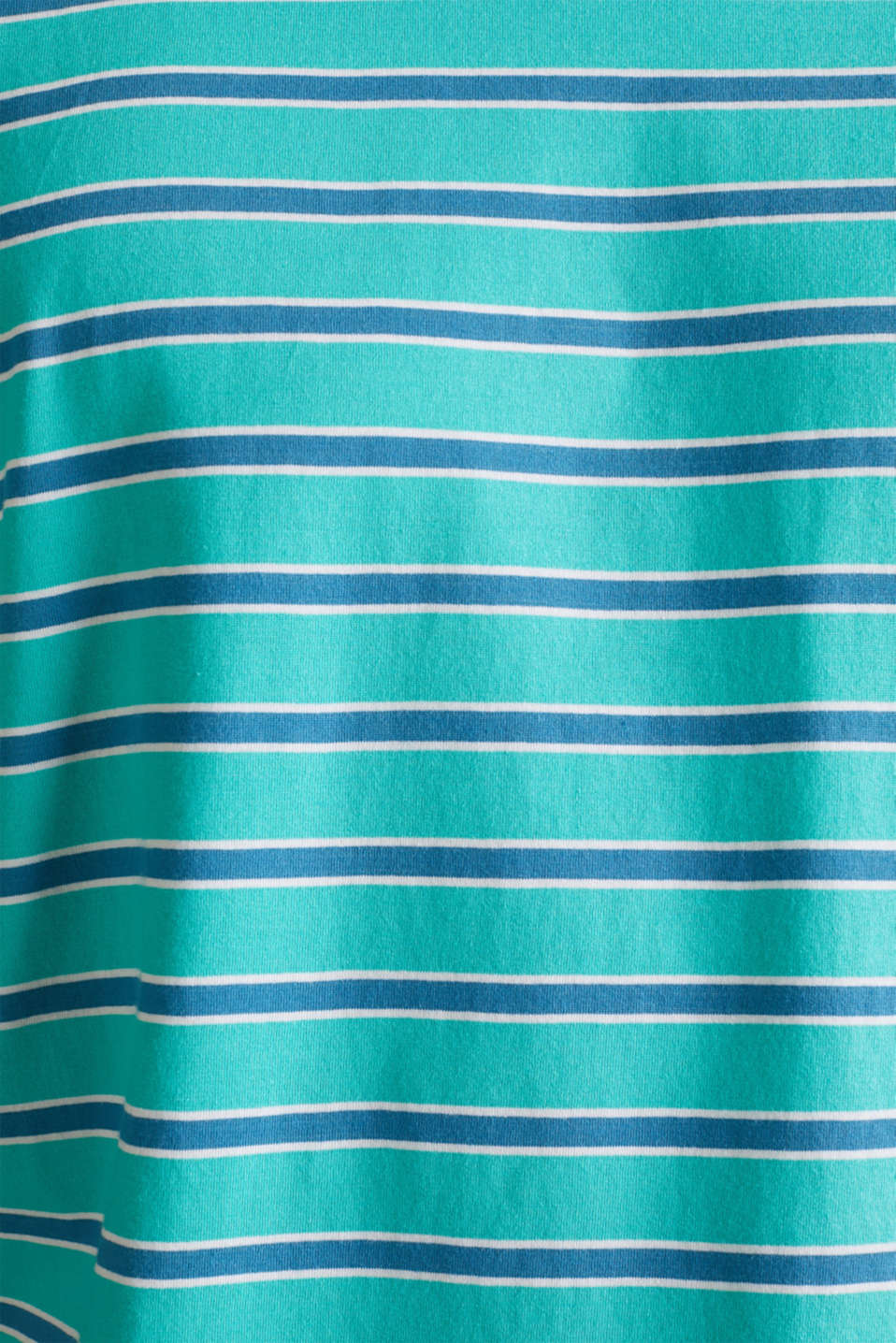 Jersey T-shirt with stripes, 100% cotton, LIGHT TURQUOISE 3, detail image number 3