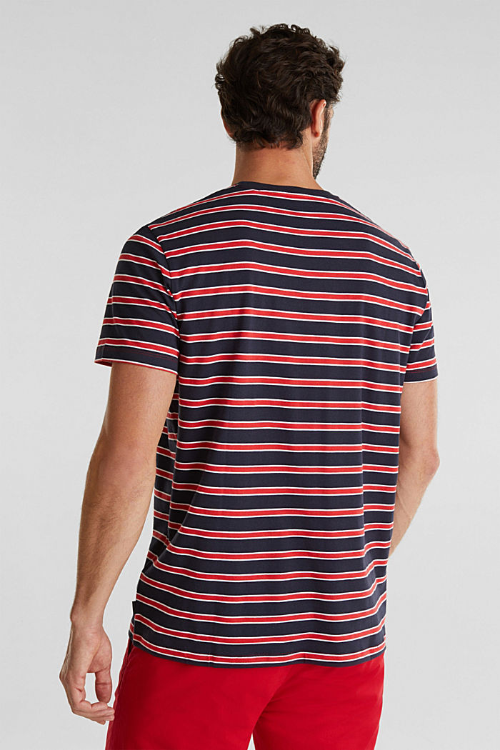 Jersey T-shirt with stripes, 100% cotton, RED, detail image number 3