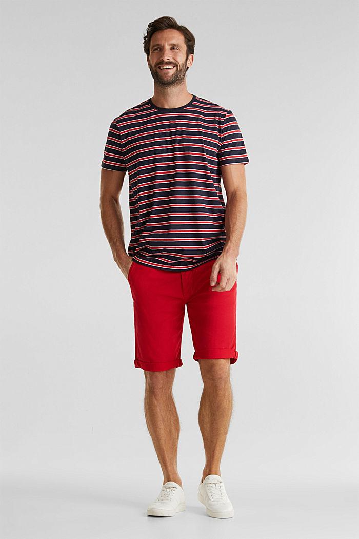 Jerseyshirt med striber, 100% bomuld, RED, detail image number 2