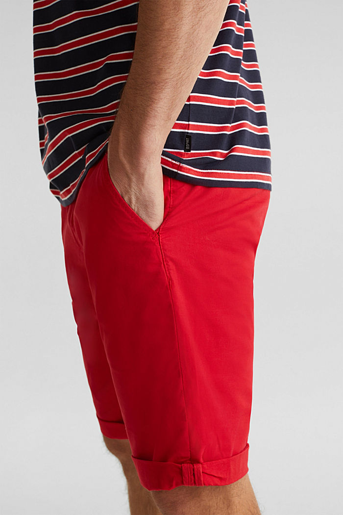 Jersey T-shirt with stripes, 100% cotton, RED, detail image number 1