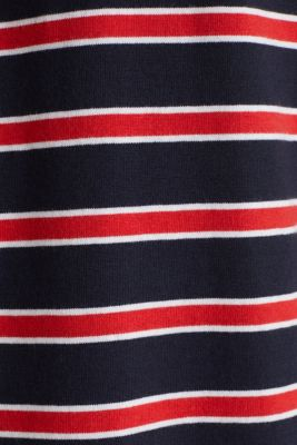 Jersey T-shirt with stripes, 100% cotton, RED 3, detail