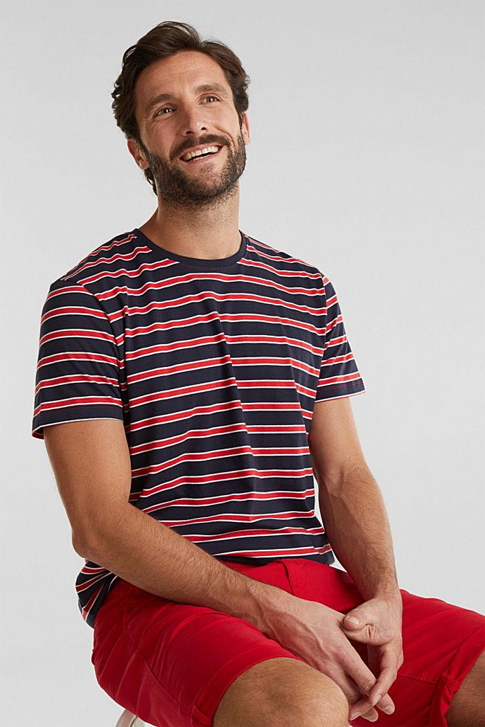 Jerseyshirt med striber, 100% bomuld, RED, detail image number 6