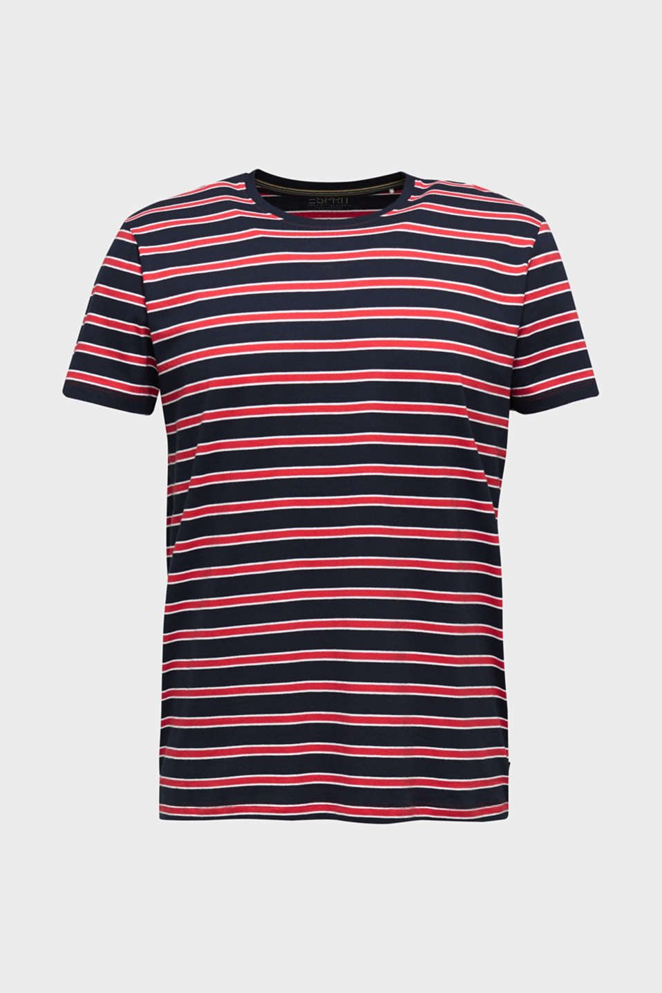 Jersey T-shirt with stripes, 100% cotton, RED 3, detail image number 8