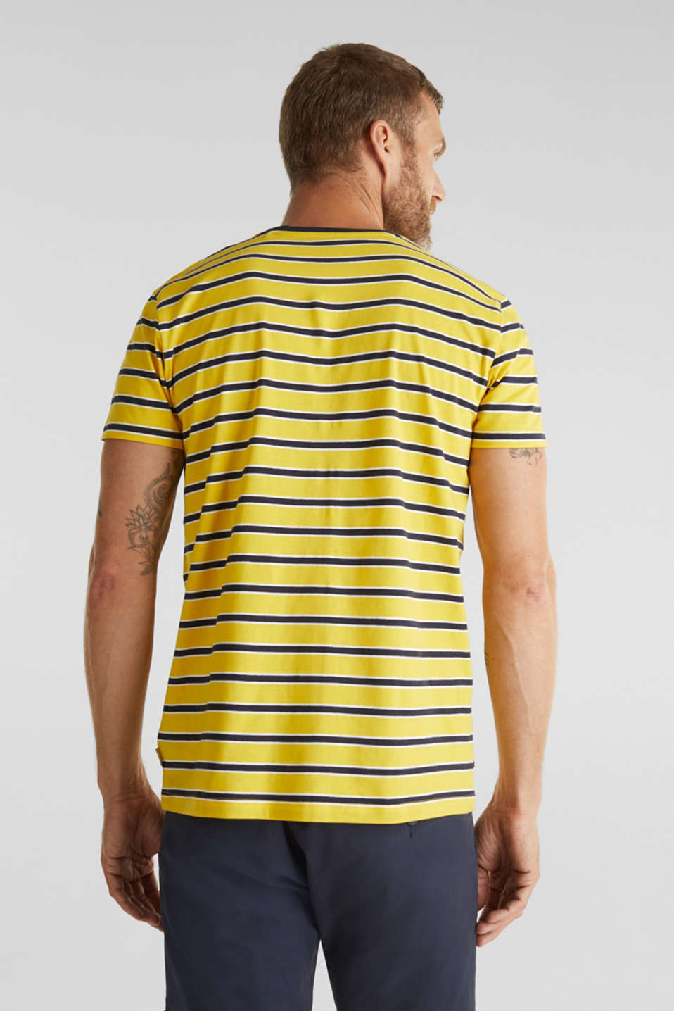 Jersey T-shirt with stripes, 100% cotton, YELLOW 3, detail image number 3