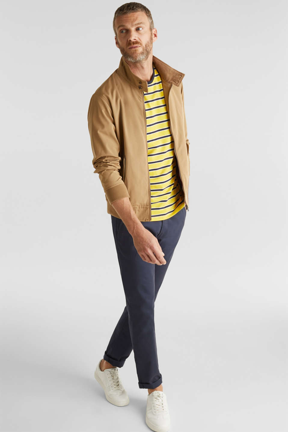 Jersey T-shirt with stripes, 100% cotton, YELLOW 3, detail image number 2