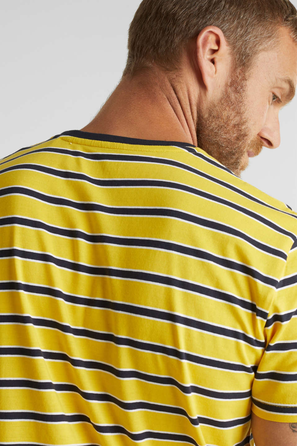 Jersey T-shirt with stripes, 100% cotton, YELLOW 3, detail image number 1