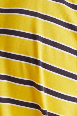 Jersey T-shirt with stripes, 100% cotton, YELLOW 3, detail