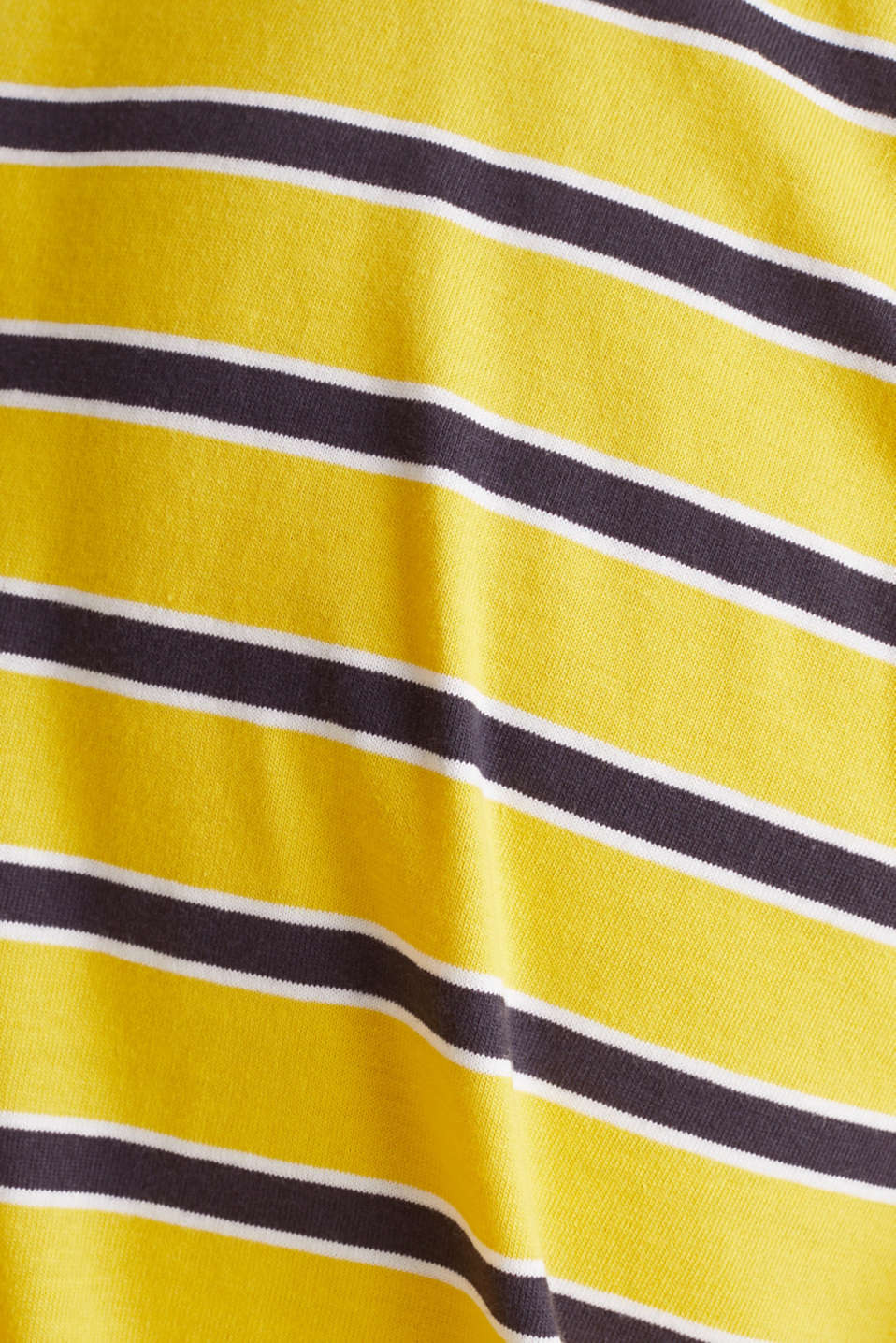 Jersey T-shirt with stripes, 100% cotton, YELLOW 3, detail image number 4