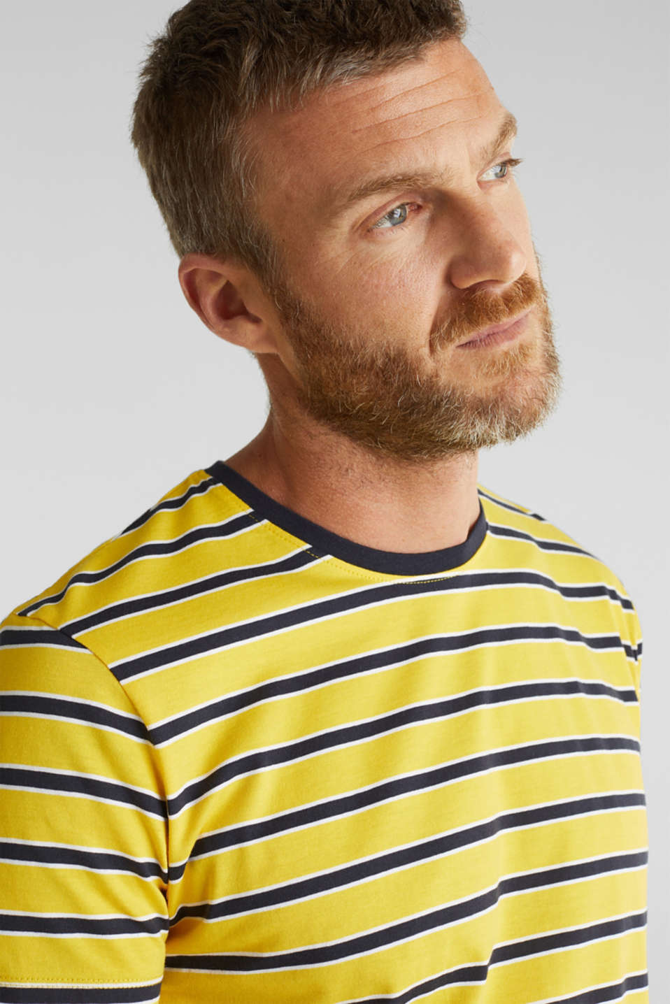 Jersey T-shirt with stripes, 100% cotton, YELLOW 3, detail image number 5