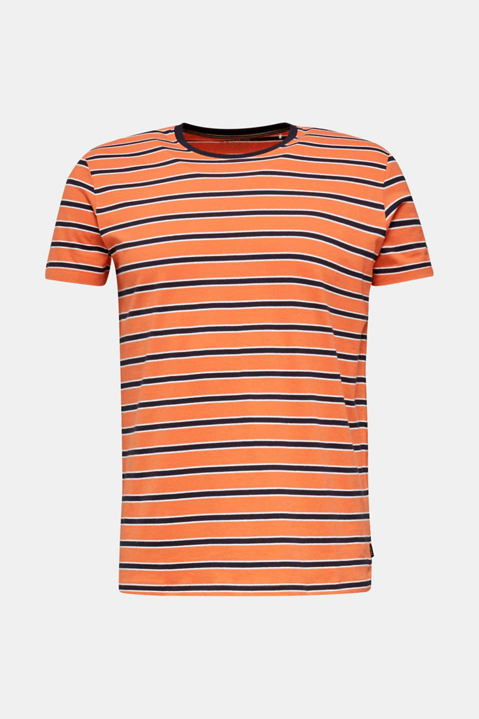 Jersey T-shirt with stripes, 100% cotton, RUST ORANGE 3, detail image number 4