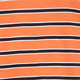 Jersey T-shirt with stripes, 100% cotton, RUST ORANGE 3, swatch