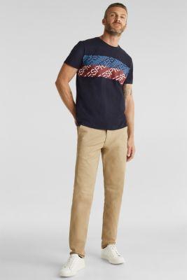 Jersey logo T-shirt, 100% cotton, NAVY, detail