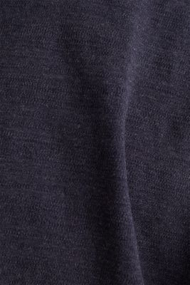 Long sleeve top made of textured jersey, NAVY 5, detail