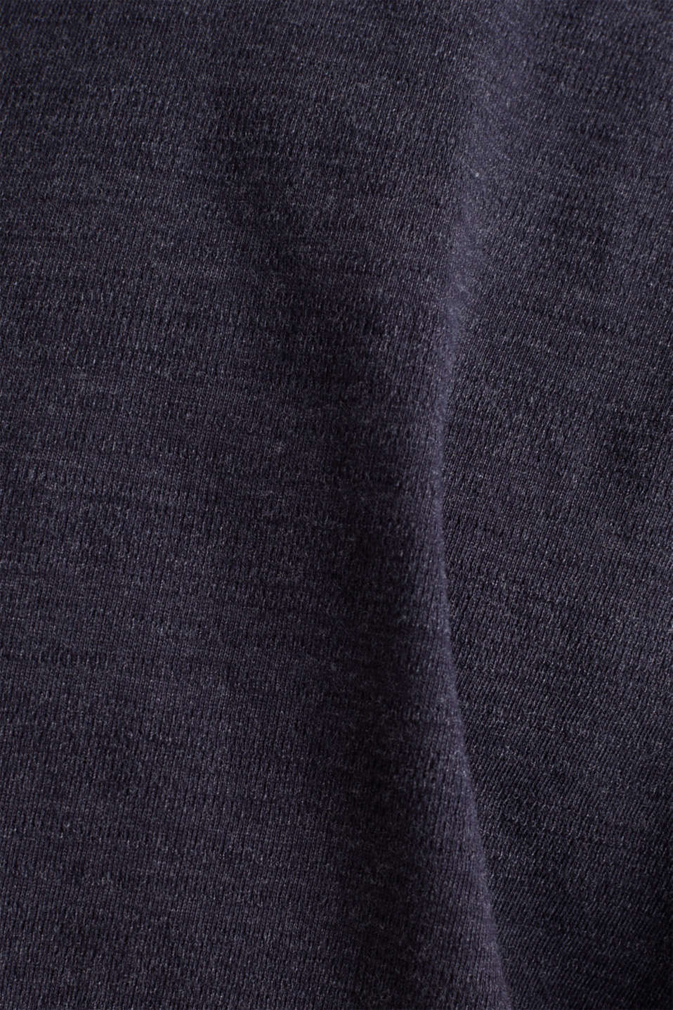 Long sleeve top made of textured jersey, NAVY 5, detail image number 4