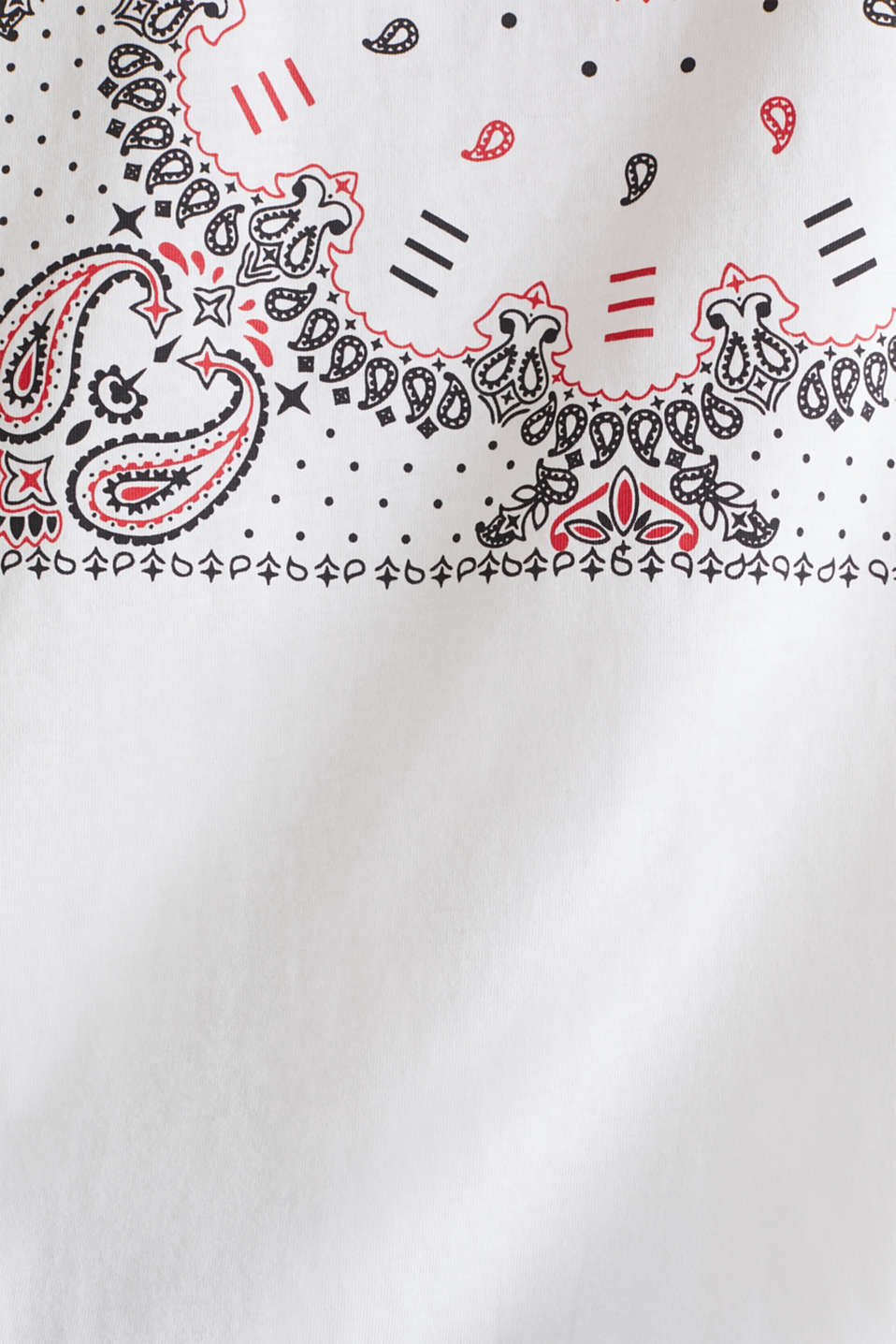 Jersey T-shirt with a bandana print, 100% cotton, WHITE, detail image number 5