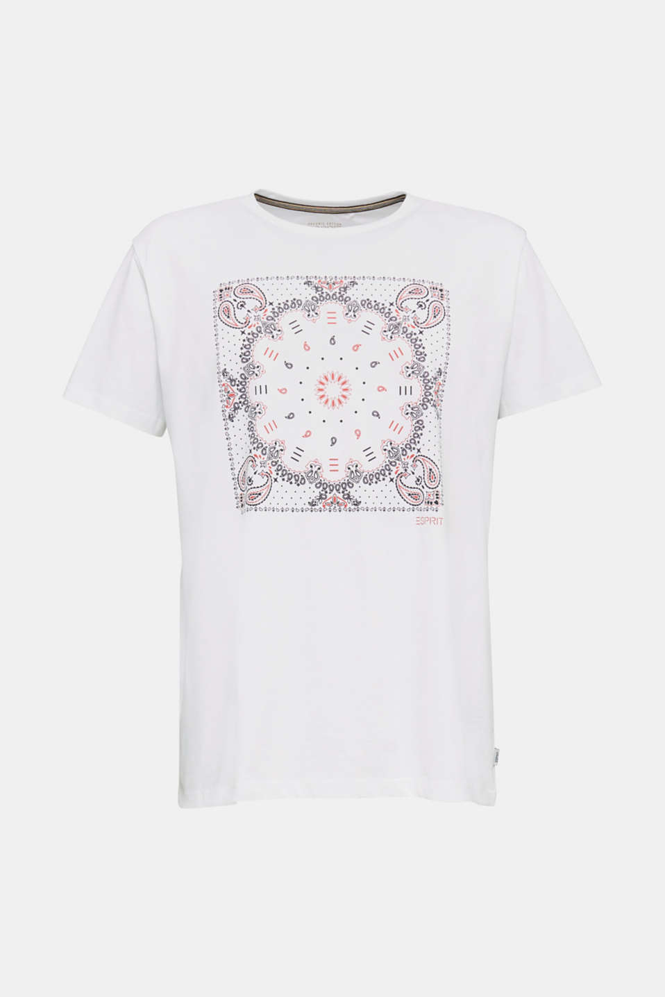 Jersey T-shirt with a bandana print, 100% cotton, WHITE, detail image number 7