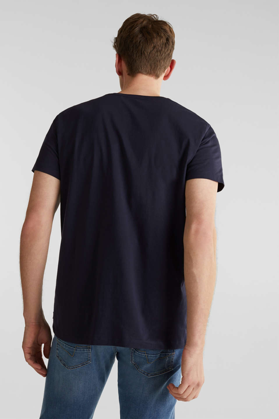 Jersey T-shirt with a bandana print, 100% cotton, NAVY, detail image number 3