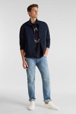 Jersey T-shirt with a bandana print, 100% cotton, NAVY, detail