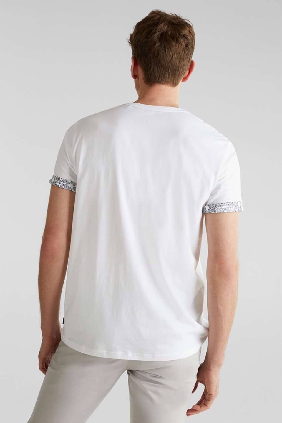 Jersey T-shirt with a bandana print, 100% cotton, WHITE, detail image number 3