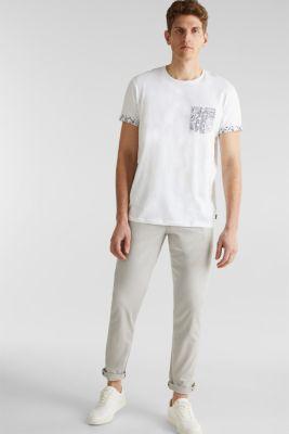 Jersey T-shirt with a bandana print, 100% cotton, WHITE, detail