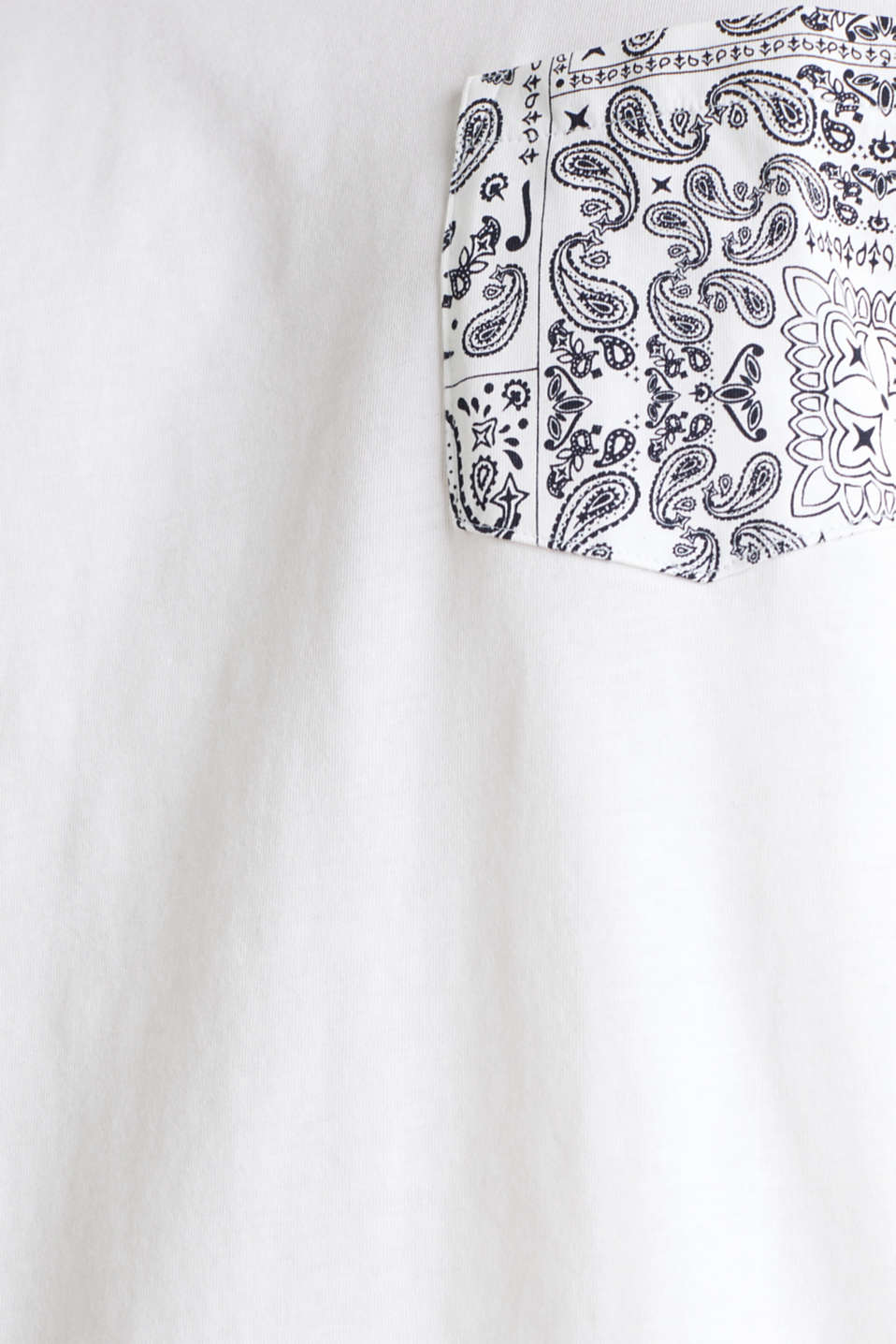 Jersey T-shirt with a bandana print, 100% cotton, WHITE, detail image number 4