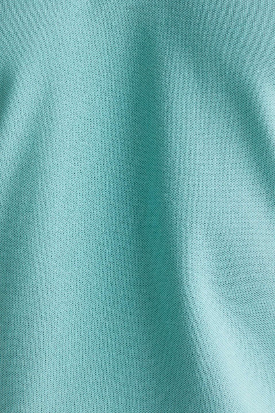 Stretch cotton piqué polo shirt, DUSTY GREEN, detail image number 4