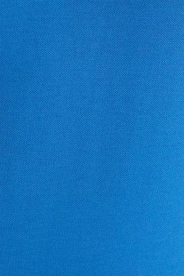 Stretch cotton piqué polo shirt, BLUE 2, detail