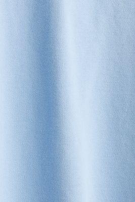 Stretch cotton piqué polo shirt, LIGHT BLUE, detail