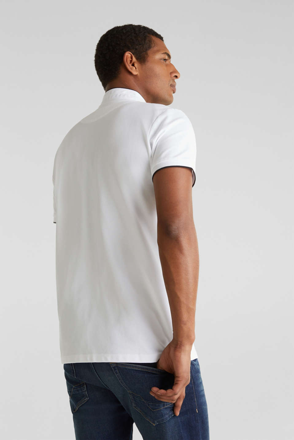 Piqué polo shirt with COOLMAX®, WHITE, detail image number 3
