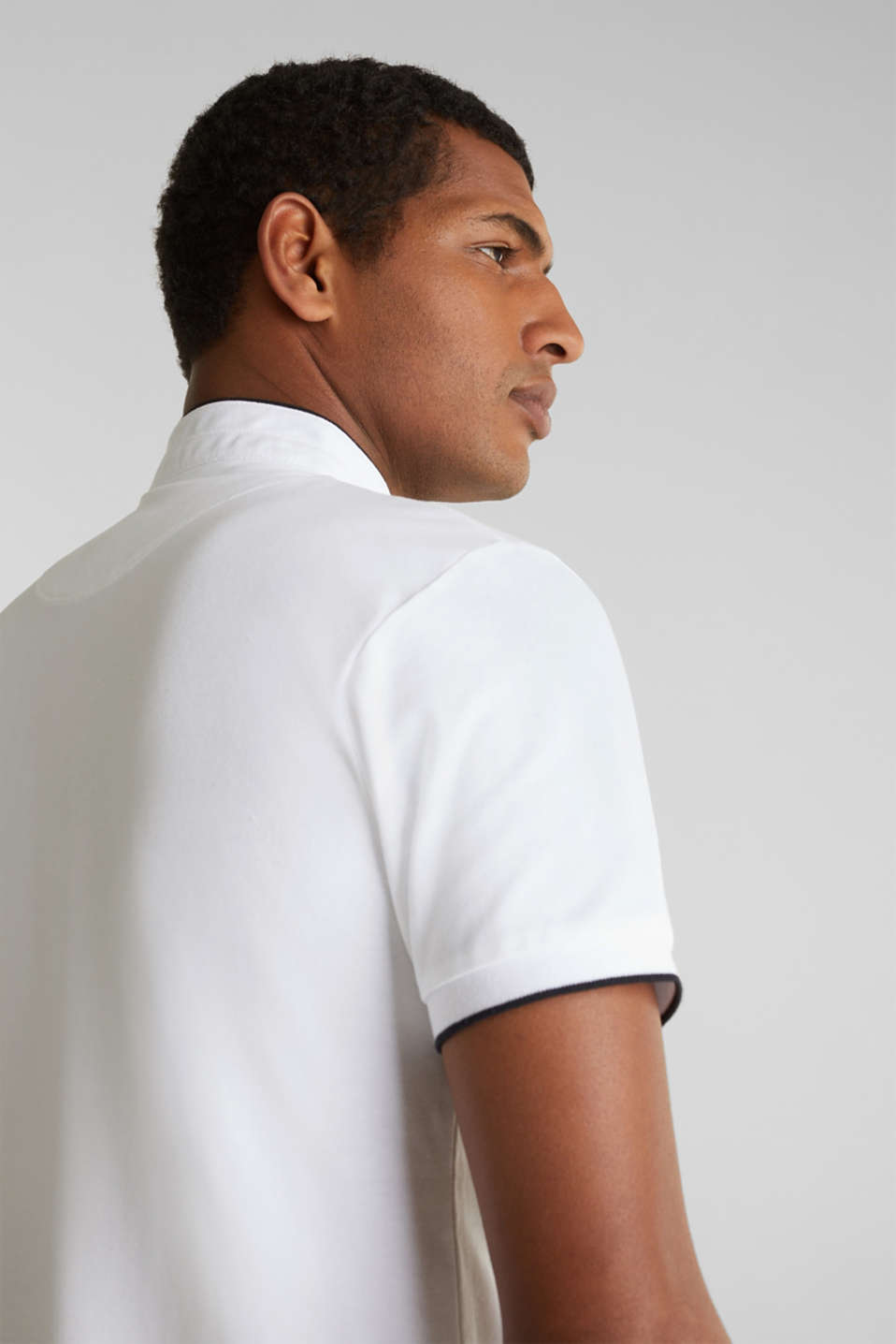 Piqué polo shirt with COOLMAX®, WHITE, detail image number 6