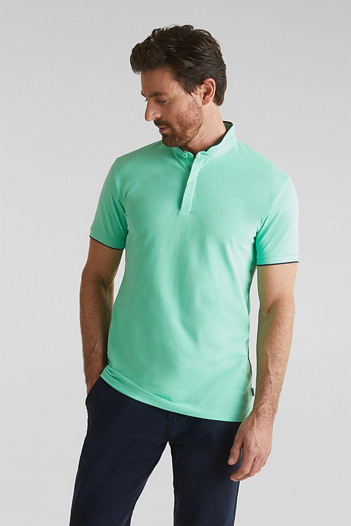 Piqué-Poloshirt mit COOLMAX®, LIGHT GREEN, detail image number 0