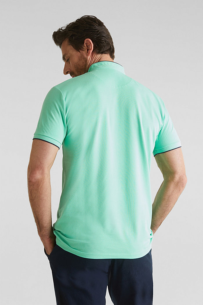 Piqué-Poloshirt mit COOLMAX®, LIGHT GREEN, detail image number 3