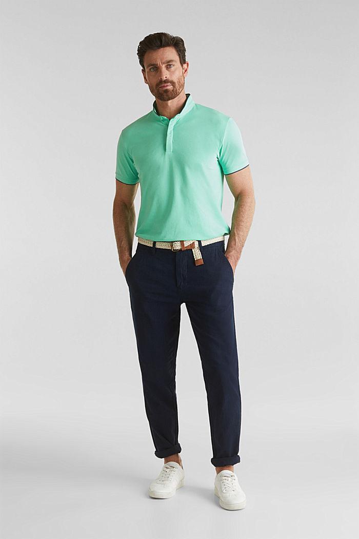 Piqué-Poloshirt mit COOLMAX®, LIGHT GREEN, detail image number 2