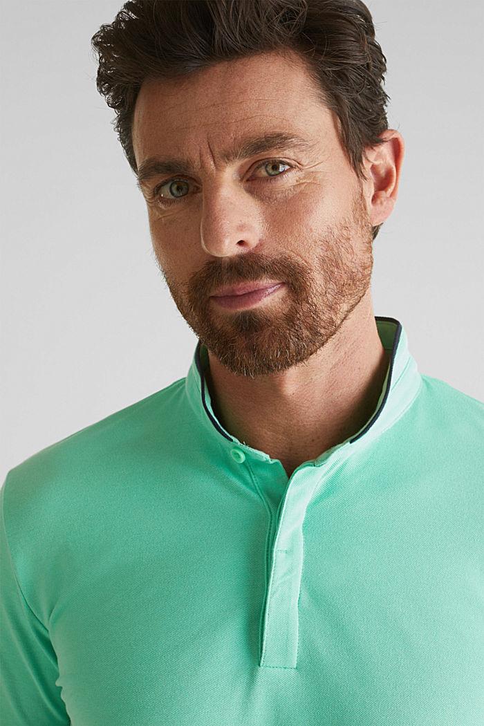 Piqué-Poloshirt mit COOLMAX®, LIGHT GREEN, detail image number 1